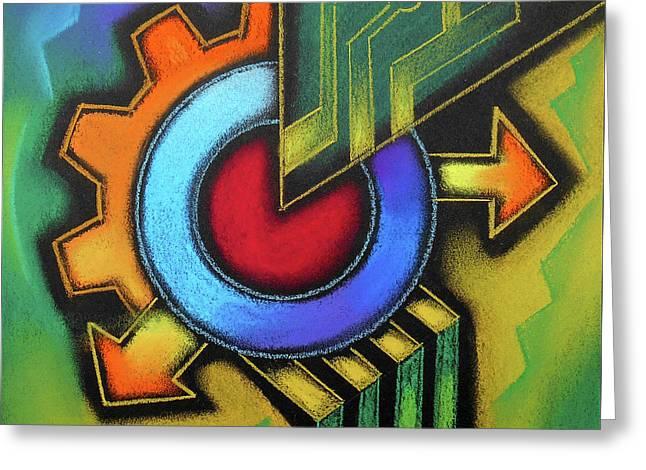 Tech Symbol Greeting Card by Leon Zernitsky