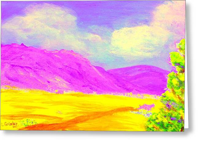 Technicolor Desert Greeting Card by Lessandra Grimley