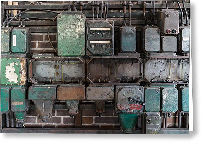 Greeting Card featuring the photograph Technological Relics by Mike Evangelist