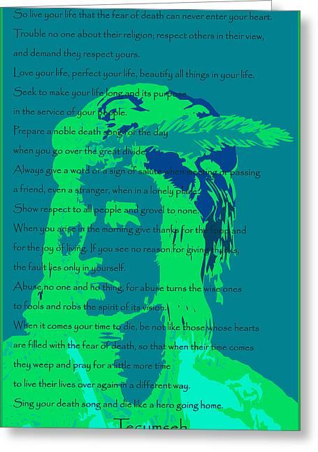 Tecumseh Greeting Card by David Strong