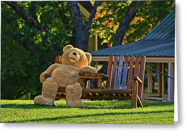 Ted Greeting Card by Allen Beatty