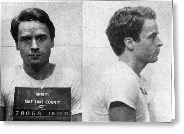 Ted Bundy Mug Shot 1975 Horizontal  Greeting Card