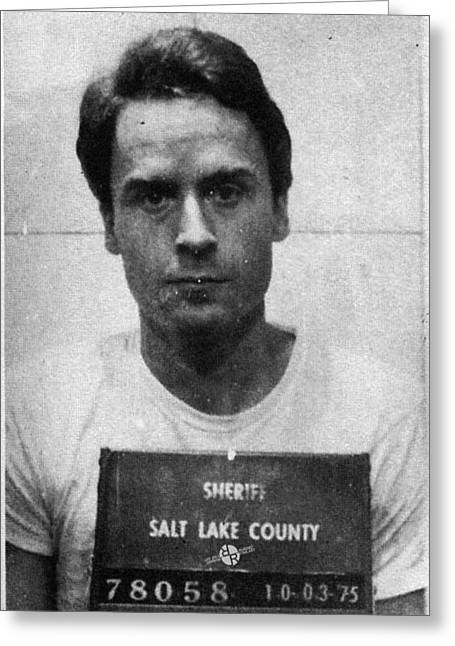 Ted Bundy Mug Shot 1975 Vertical  Greeting Card