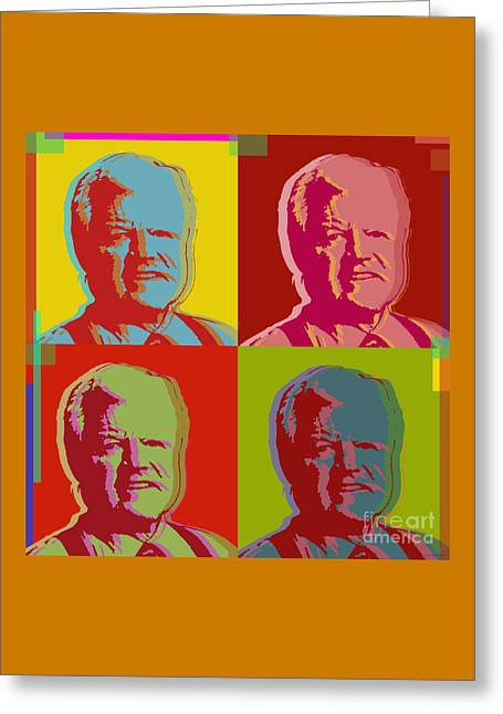 Ted Kennedy Greeting Card by Jean luc Comperat