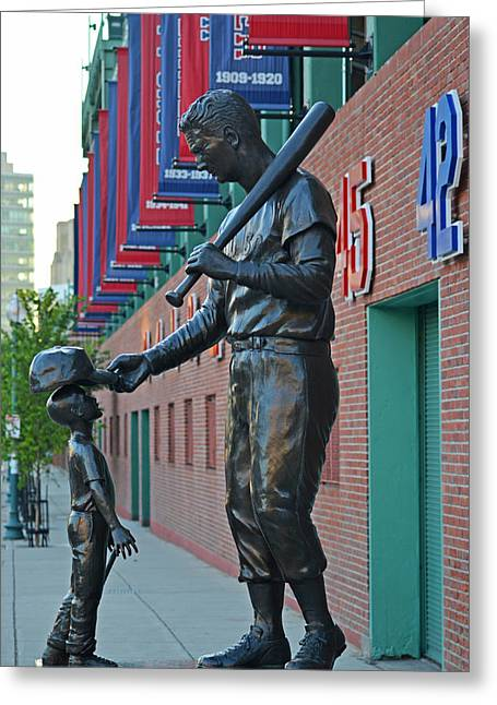 Ted Williams Statue Boston Ma Fenway Park Greeting Card by Toby McGuire