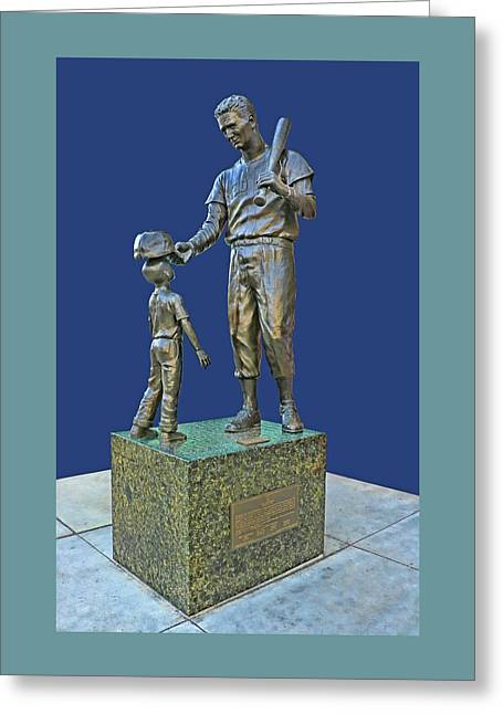 Ted Williams Statue - Fenway Park Greeting Card