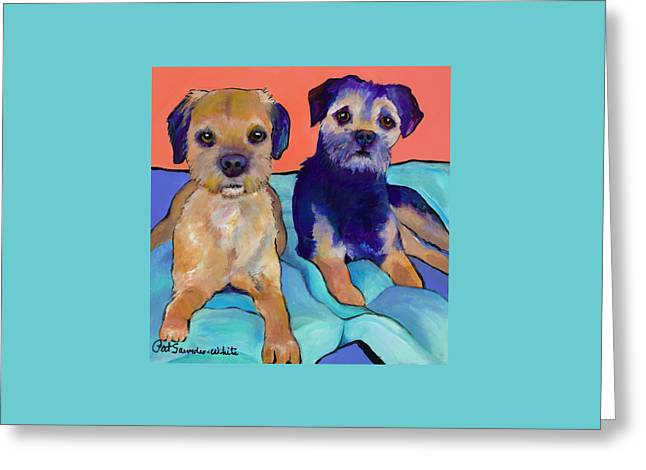 Teddy And Max Greeting Card