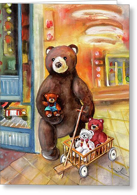 Teddy Bear Day Out In Sweden Greeting Card