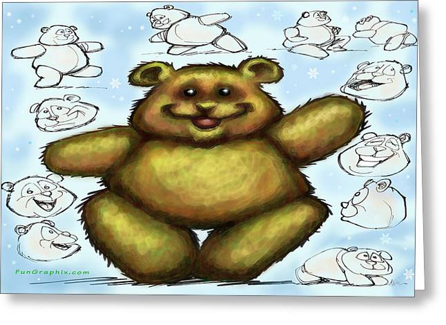 Greeting Card featuring the painting Teddy Bear by Kevin Middleton