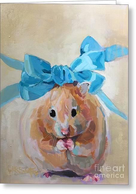 Teddy Greeting Card by Kimberly Santini