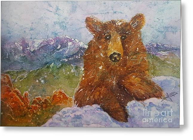 Teddy Wakes Up In The Most Desireable City In The Nation Greeting Card