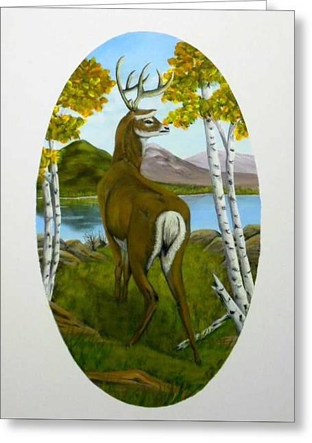 Teddy's Deer Greeting Card