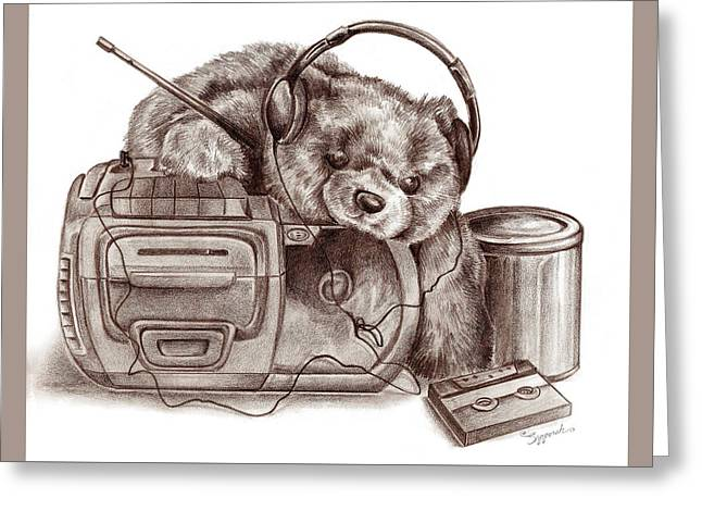Teenage Bear Greeting Card
