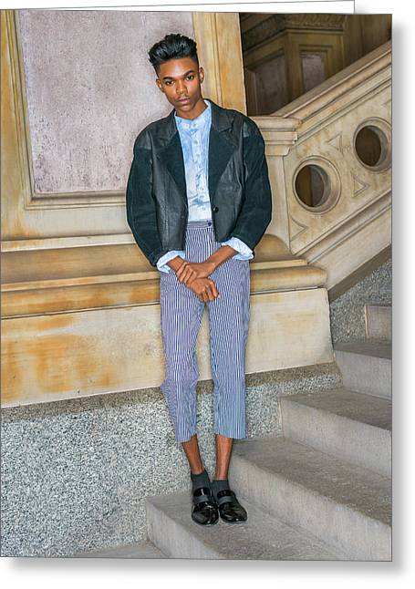 Teenage Boy Fashion 1504267 Greeting Card