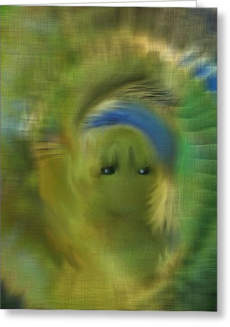 Digital Art Greeting Cards - Teenie Bobper Greeting Card by Sherri  Of Palm Springs