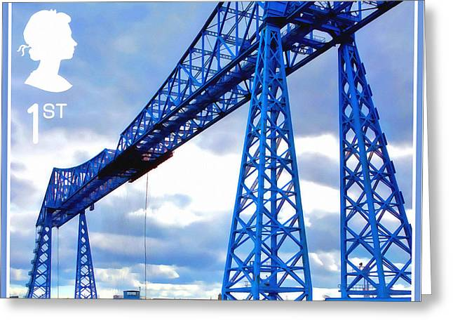 Tees Transporter Bridge Greeting Card