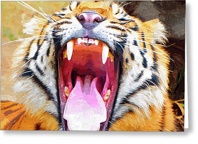 Teeth And Tongue Greeting Card