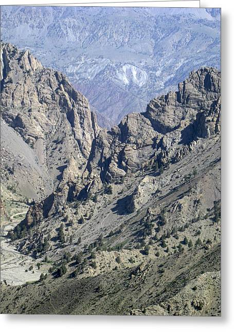 Teeth Of The Mountains Afghanistan Greeting Card
