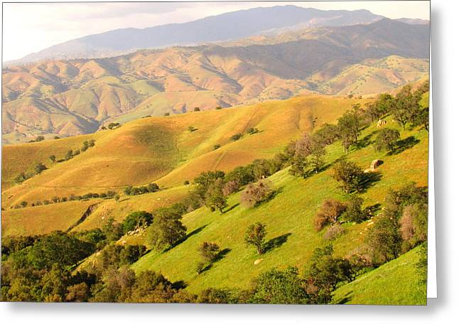 Tehachapi Topography Greeting Card