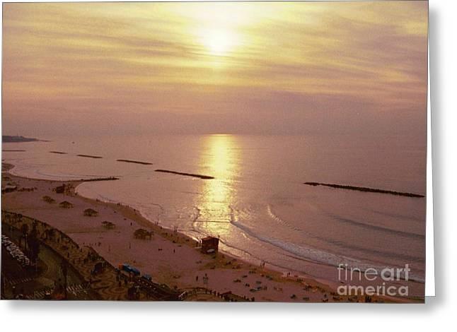 Tel Aviv Beach Morning Greeting Card