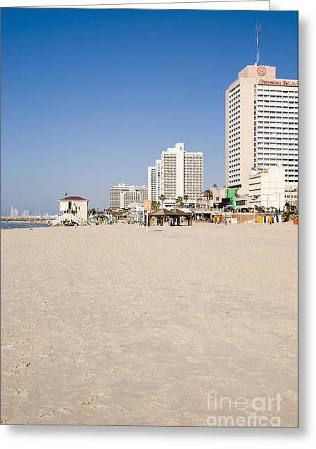 Tel Aviv Coastline Greeting Card by Ilan Rosen