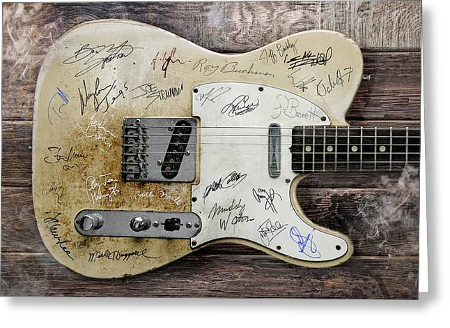 Telecaster Guitar Fantasy Greeting Card by Mal Bray