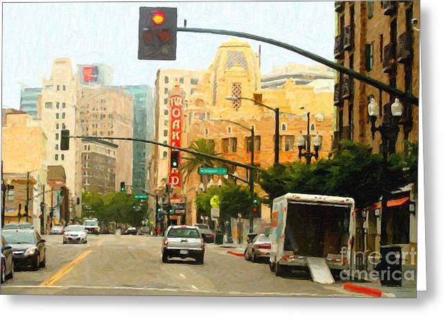 Telegraph Avenue In Oakland California Greeting Card by Wingsdomain Art and Photography