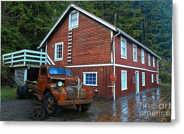 Telegraph Cove Workhorse Greeting Card by Adam Jewell