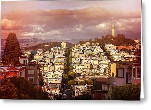 Telegraph Hill San Francisco  Greeting Card