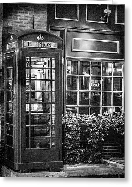 Greeting Card featuring the photograph Telephone Booth by Randy Bayne