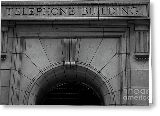 Telephone Building In New York City Greeting Card
