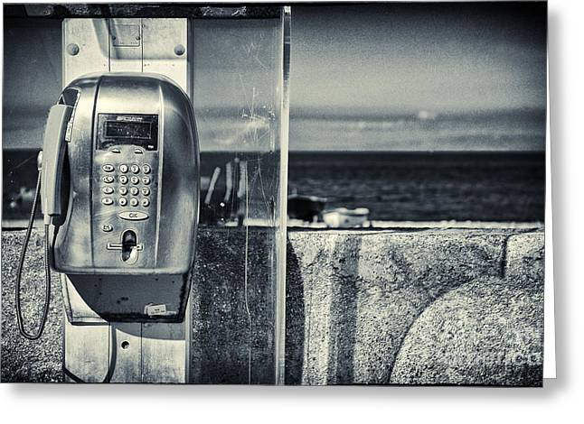 Telephone By The Sea Greeting Card by Silvia Ganora