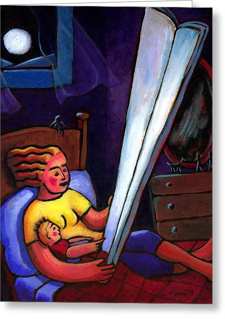 Greeting Card featuring the painting Telling Tall Tales by Angela Treat Lyon