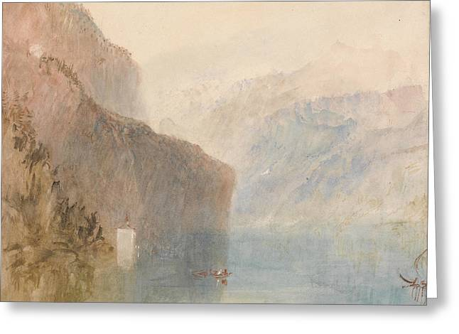 Tell's Chapel Lake Lucerne Greeting Card by Joseph Mallord William Turner