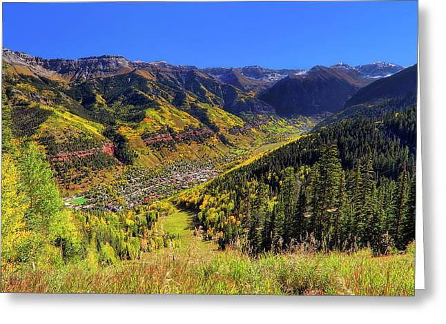 Telluride In Autumn - Colorful Colorado - Landscape Greeting Card by Jason Politte