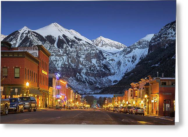 Telluride Main Street 3 Greeting Card