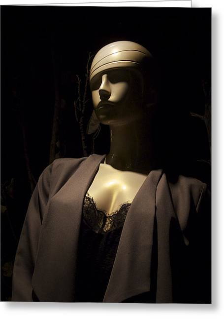 Telluride Mannequin At Night Greeting Card by Mary Lee Dereske