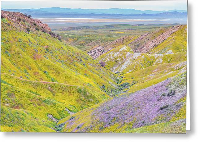 Greeting Card featuring the photograph Temblor Range View To Caliente Range by Marc Crumpler
