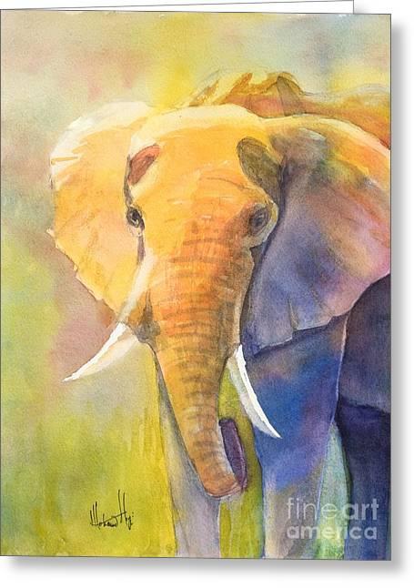 Tembo Greeting Card by Mohamed Hirji