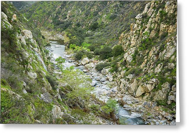 Greeting Card featuring the photograph Temecula Canyon Of The Santa Margarita River by Alexander Kunz