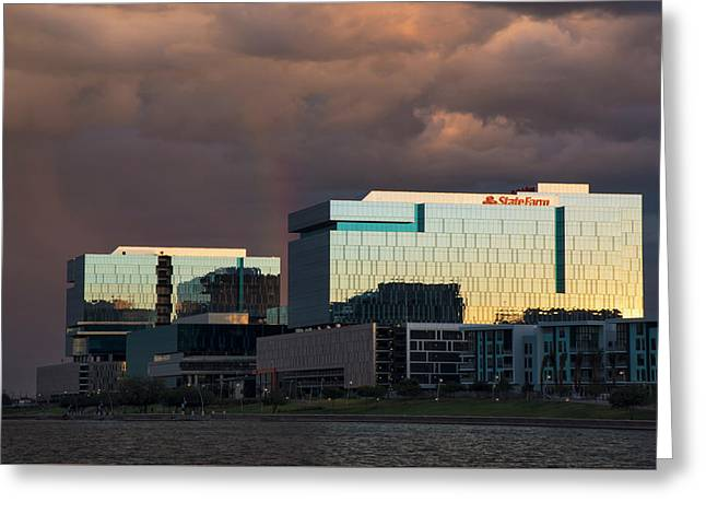 Greeting Card featuring the photograph Tempe Town Lake Skyline by Dave Dilli