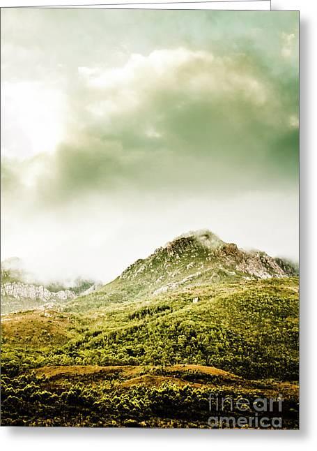 Temperate Alpine Terrain Greeting Card