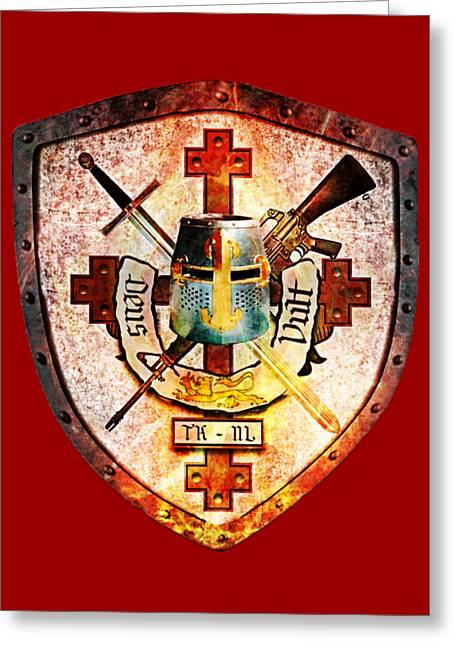 Templar Crest Greeting Card