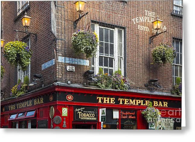 Temple Bar - Dublin Greeting Card by Brian Jannsen