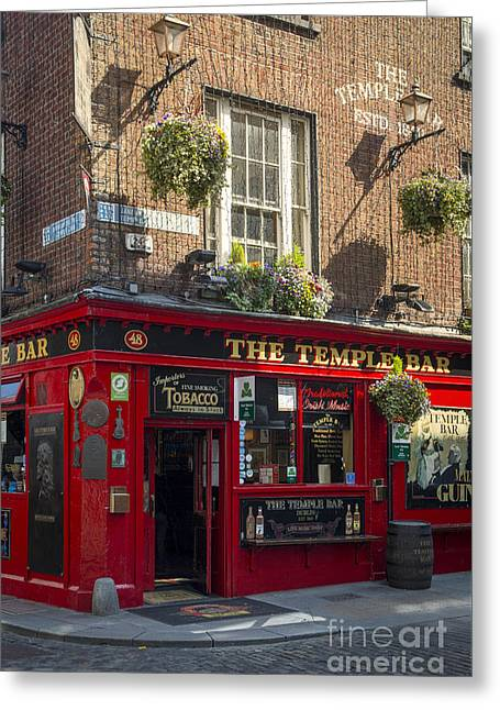 Temple Bar - Dublin Ireland Greeting Card by Brian Jannsen