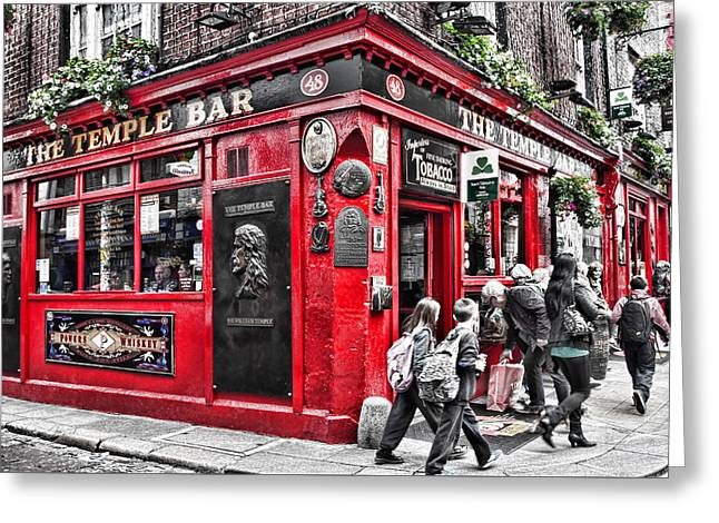 Temple Bar Pub Greeting Card