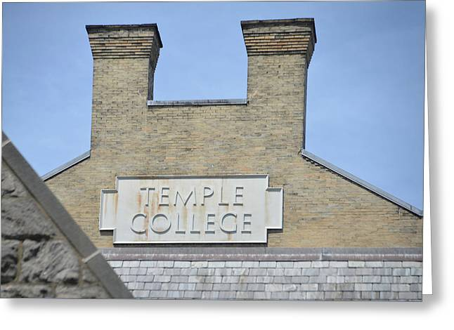 Temple College Greeting Card by Bill Cannon