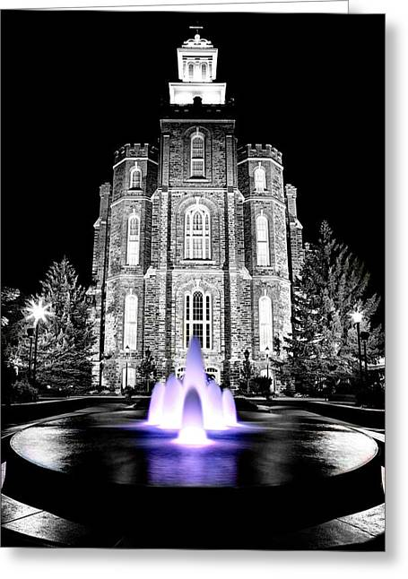 Temple Fountain  Greeting Card