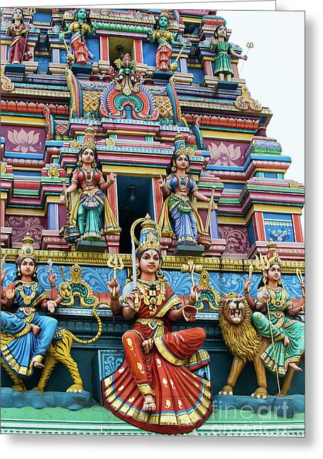 Temple Gopuram Greeting Card by Tim Gainey
