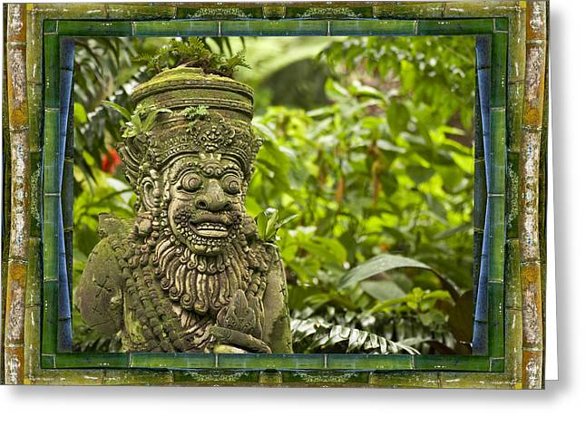 Temple Guardian Greeting Card by Bell And Todd